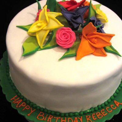 2 toned flwoer cake 2