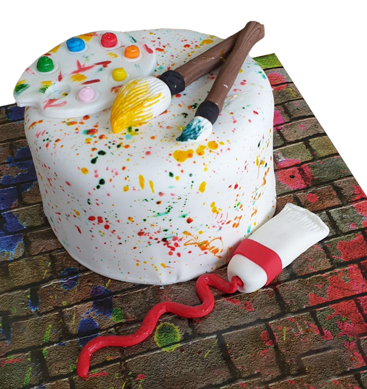 Incredible Artist Palette Cake Kosher Cakery Kosher Cakes Gift Delivery Personalised Birthday Cards Paralily Jamesorg